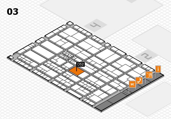 K 2016 hall map (Hall 3): stand D52