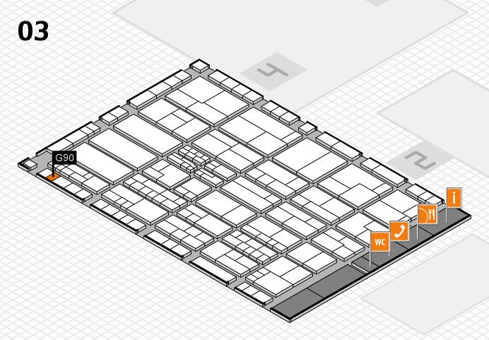 K 2016 hall map (Hall 3): stand G90