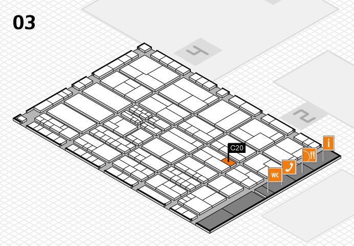 K 2016 hall map (Hall 3): stand C20