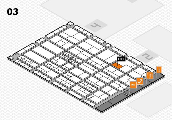 K 2016 hall map (Hall 3): stand B33