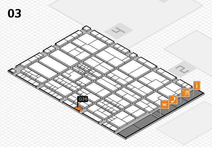 K 2016 hall map (Hall 3): stand G36