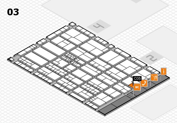 K 2016 hall map (Hall 3): stand C05