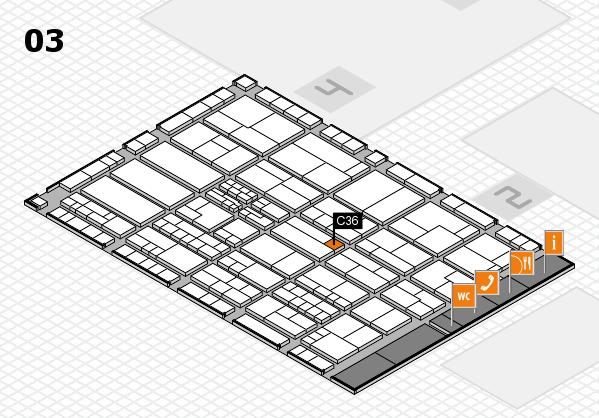 K 2016 hall map (Hall 3): stand C36