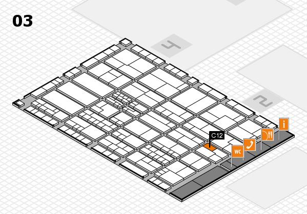 K 2016 hall map (Hall 3): stand C12
