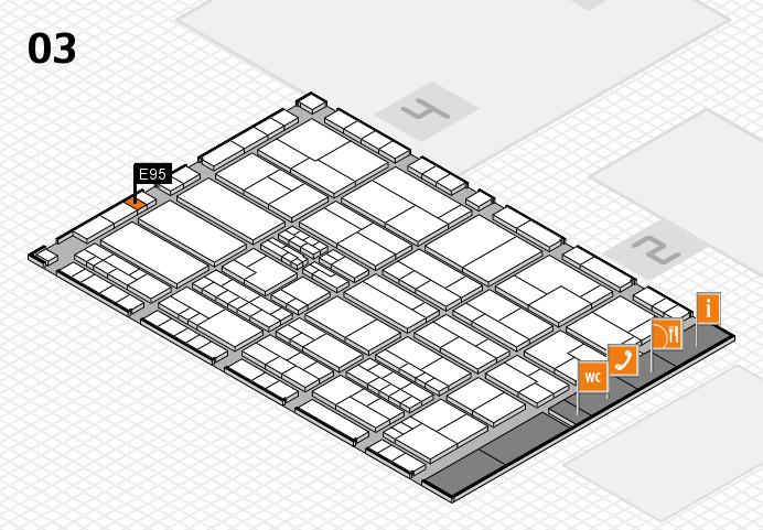 K 2016 hall map (Hall 3): stand E95