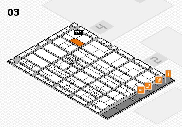K 2016 hall map (Hall 3): stand B73