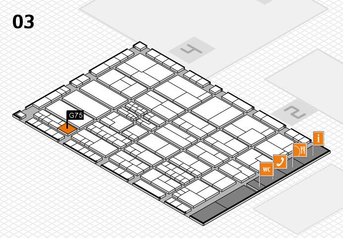 K 2016 hall map (Hall 3): stand G75