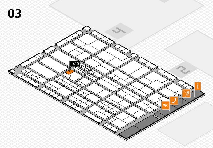 K 2016 hall map (Hall 3): stand D70