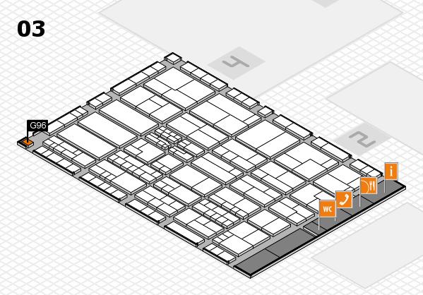 K 2016 hall map (Hall 3): stand G96