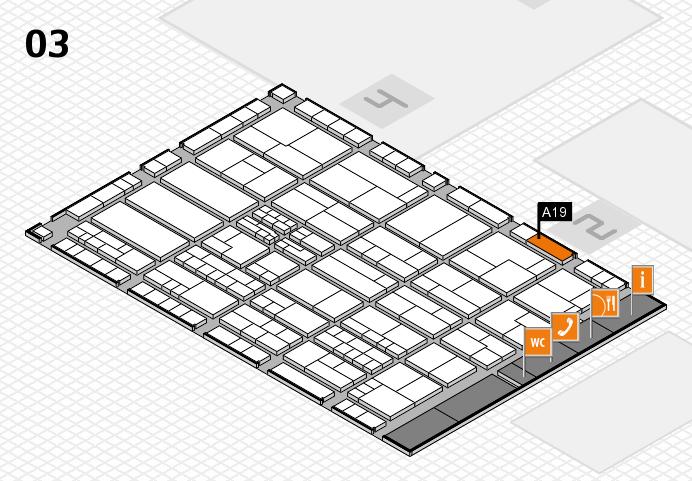 K 2016 hall map (Hall 3): stand A19