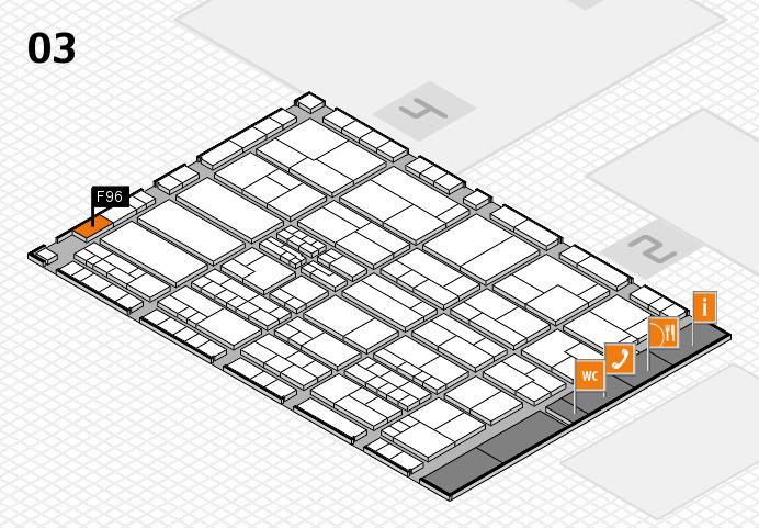 K 2016 hall map (Hall 3): stand F96