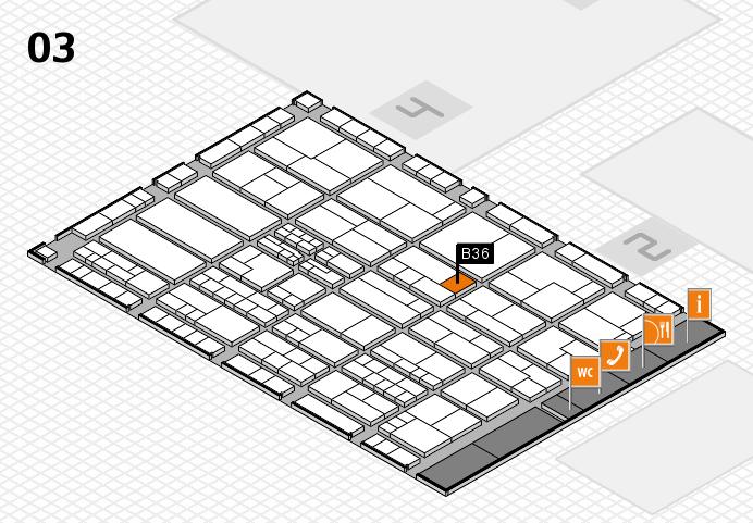 K 2016 hall map (Hall 3): stand B36