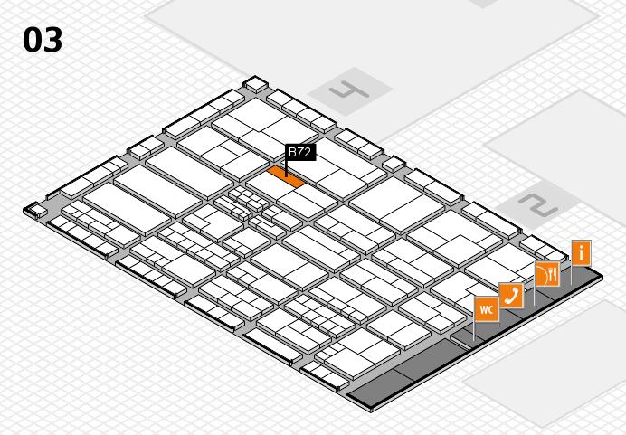 K 2016 hall map (Hall 3): stand B72