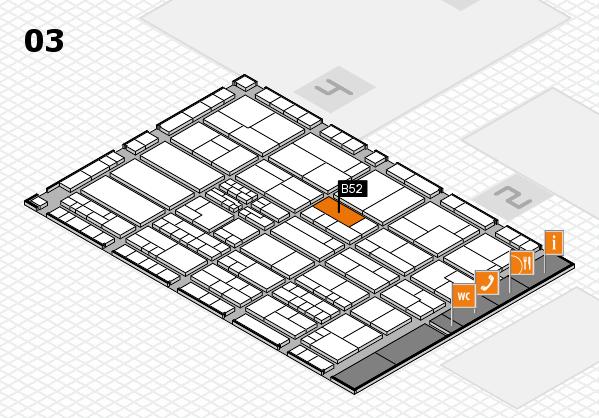 K 2016 hall map (Hall 3): stand B52