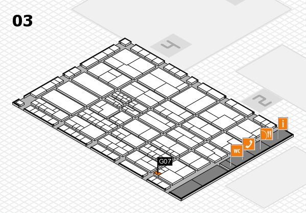 K 2016 hall map (Hall 3): stand G07