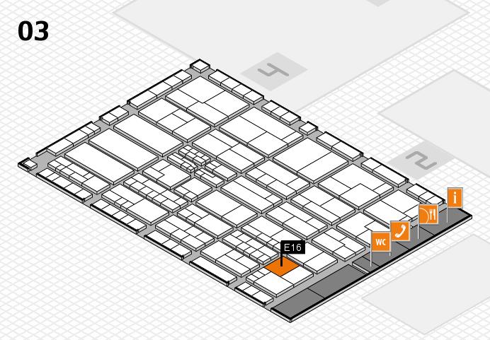 K 2016 hall map (Hall 3): stand E16
