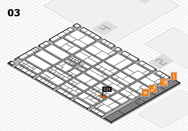 K 2016 hall map (Hall 3): stand E24