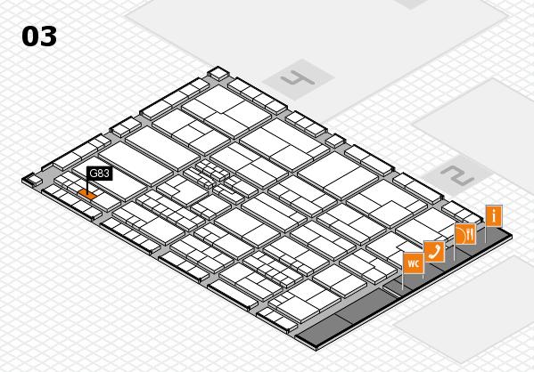 K 2016 hall map (Hall 3): stand G83