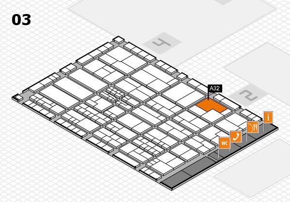 K 2016 hall map (Hall 3): stand A32
