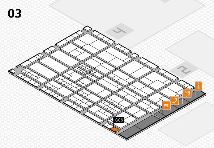 K 2016 hall map (Hall 3): stand G06