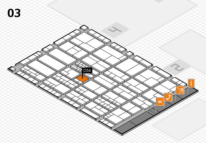 K 2016 hall map (Hall 3): stand D54