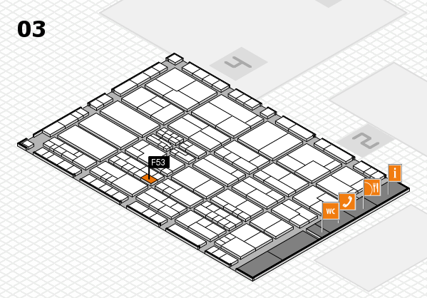 K 2016 hall map (Hall 3): stand F53