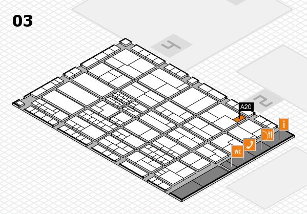 K 2016 hall map (Hall 3): stand A20
