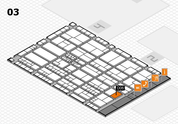 K 2016 hall map (Hall 3): stand D06