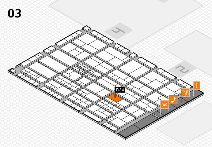 K 2016 hall map (Hall 3): stand D34