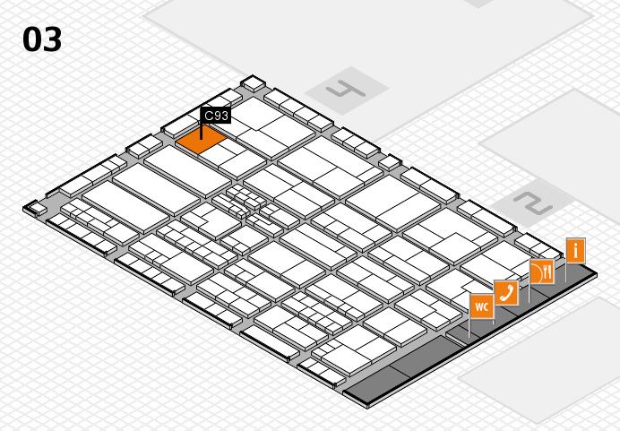K 2016 hall map (Hall 3): stand C93