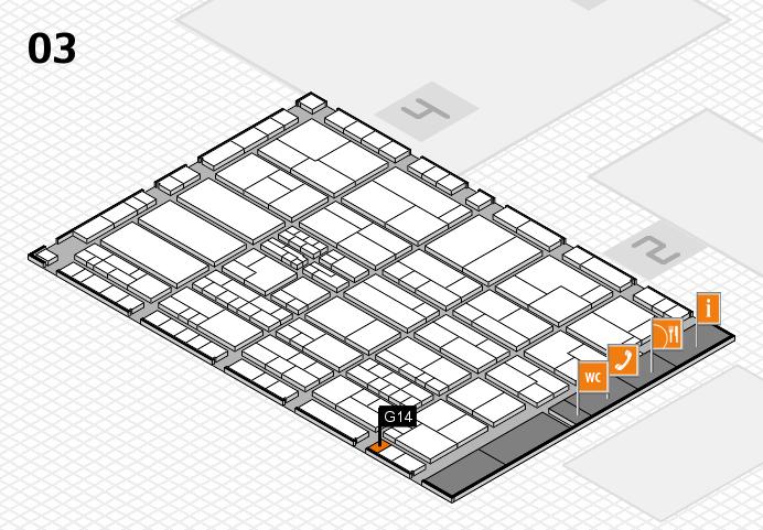 K 2016 hall map (Hall 3): stand G14