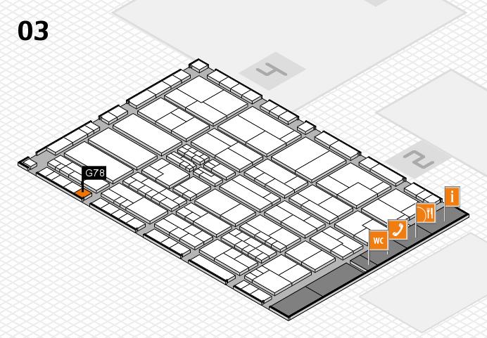 K 2016 hall map (Hall 3): stand G78