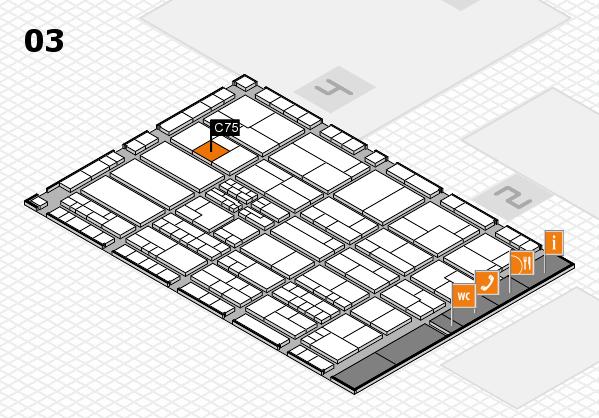 K 2016 hall map (Hall 3): stand C75