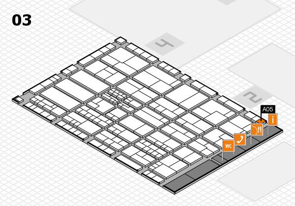 K 2016 hall map (Hall 3): stand A05