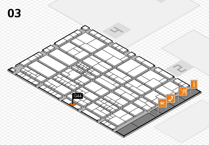 K 2016 hall map (Hall 3): stand G44