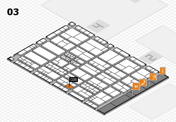 K 2016 hall map (Hall 3): stand G35