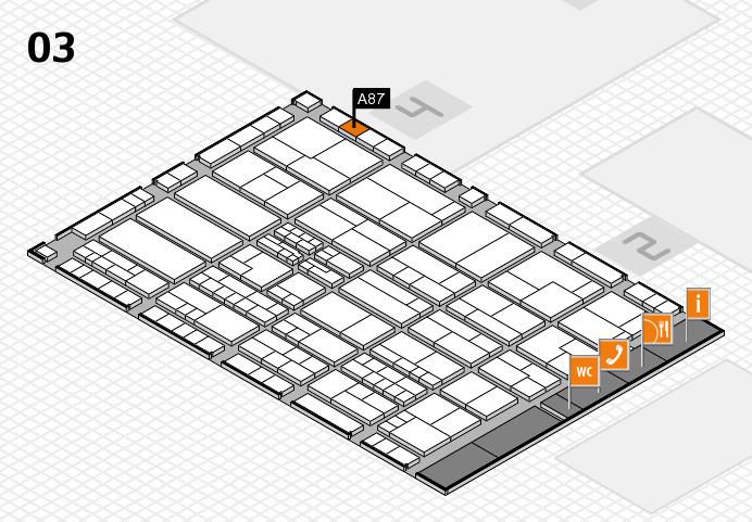 K 2016 hall map (Hall 3): stand A87