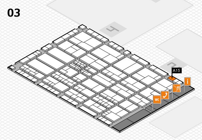 K 2016 hall map (Hall 3): stand A15