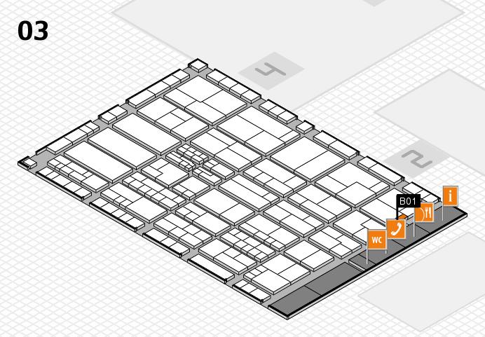 K 2016 hall map (Hall 3): stand B01