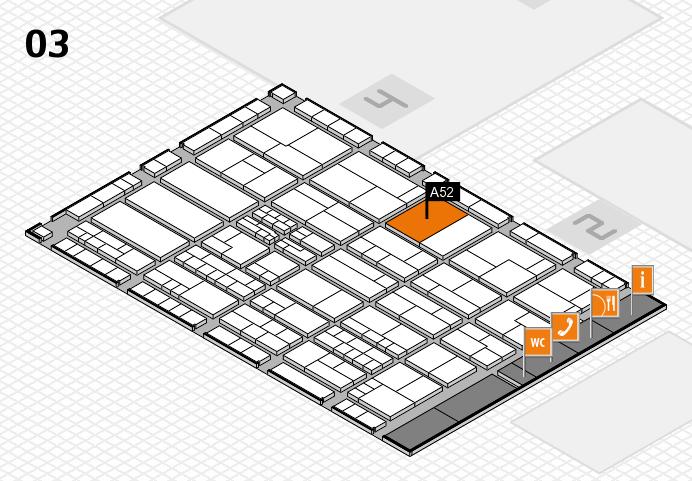 K 2016 hall map (Hall 3): stand A52