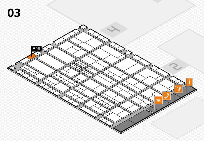 K 2016 hall map (Hall 3): stand E96