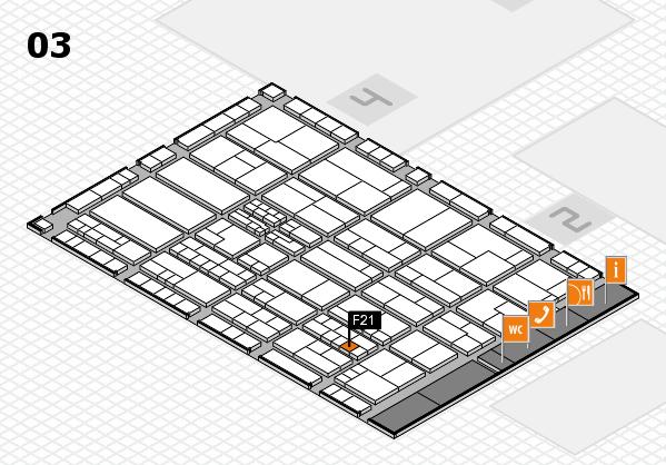 K 2016 hall map (Hall 3): stand F21