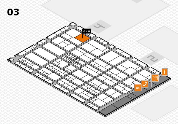 K 2016 hall map (Hall 3): stand A74