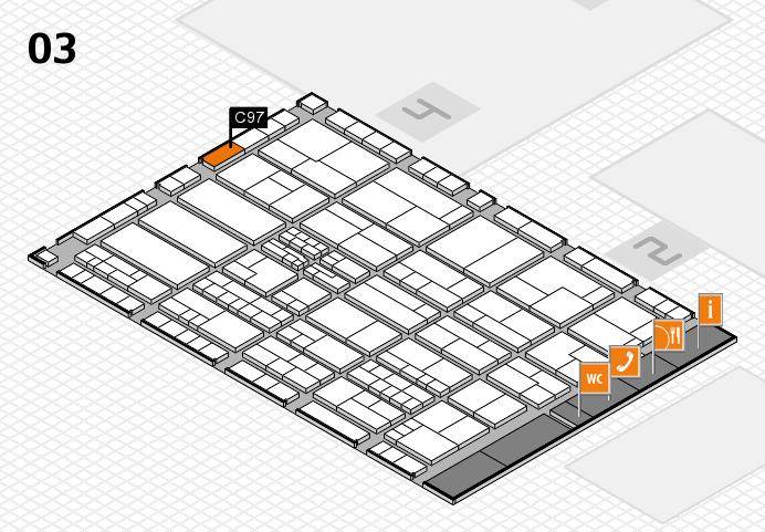 K 2016 hall map (Hall 3): stand C97