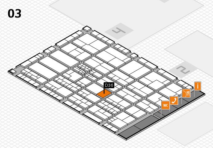 K 2016 hall map (Hall 3): stand D36