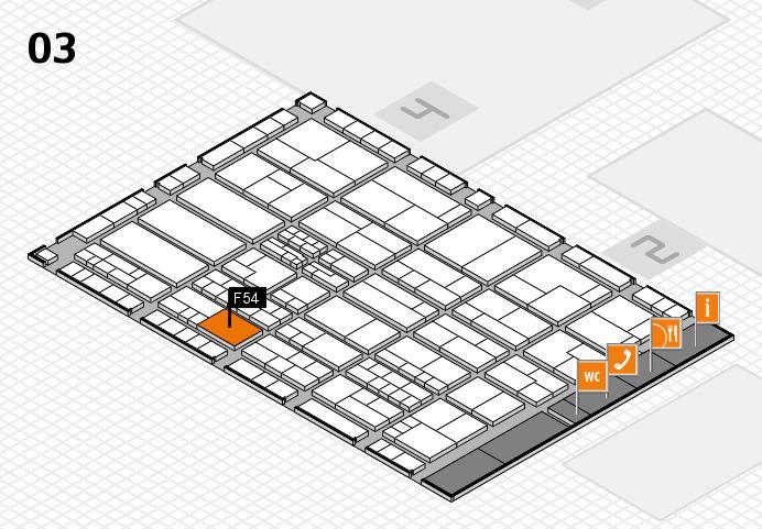 K 2016 hall map (Hall 3): stand F54