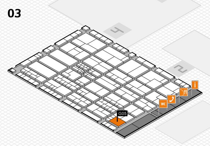 K 2016 hall map (Hall 3): stand G05