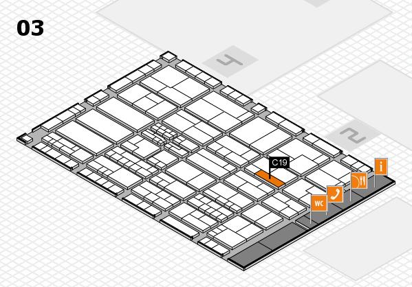 K 2016 hall map (Hall 3): stand C19