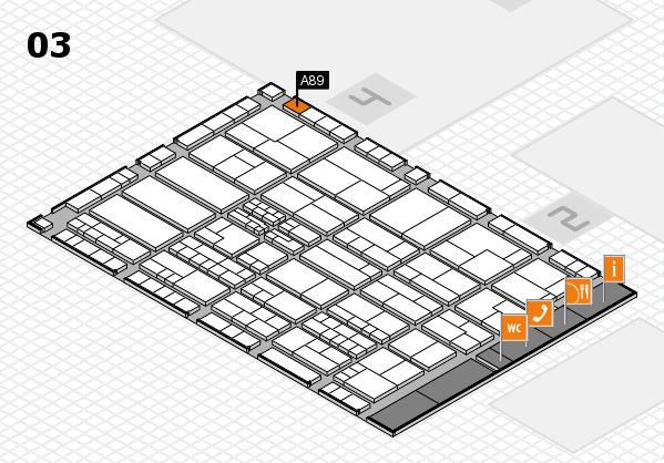 K 2016 hall map (Hall 3): stand A89