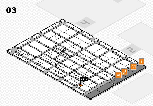 K 2016 hall map (Hall 3): stand G09